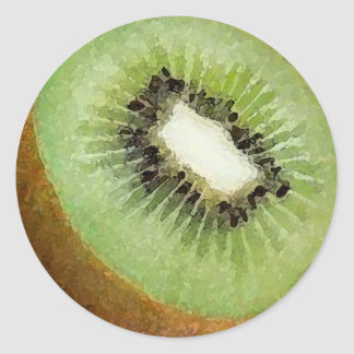 Kiwi Watercolor - sticker