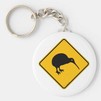 Kiwi Yellow Sign Basic Round Button Key Ring