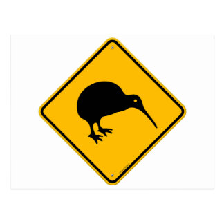 Kiwi Yellow Sign Postcard