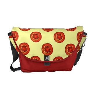 kiwis fruit slices red pop art style commuter bags