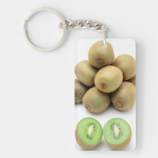 Kiwis still life Double-Sided rectangular acrylic key ring