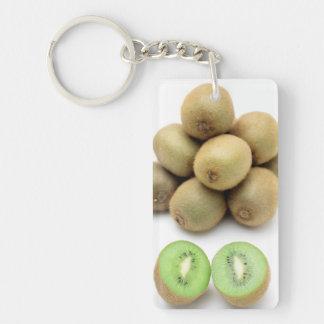 Kiwis still life Double-Sided rectangular acrylic key ring
