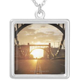Kiyosu Bridge Silver Plated Necklace