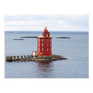 Kjeungskjaer Lighthouse, Norway Postcard