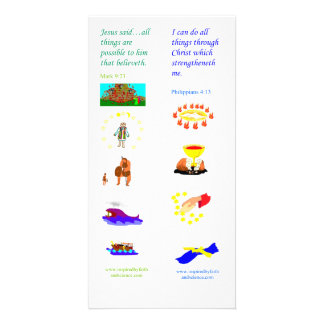 KJV All things are possible - Bible bookmark card Personalised Photo Card