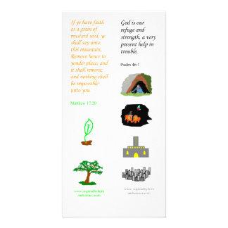 KJV faith as a mustard seed - Bible bookmark card Photo Card