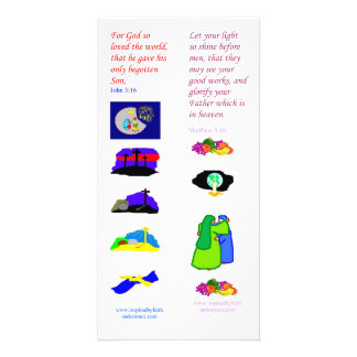 KJV God so loved the world - Bible bookmark card Customised Photo Card