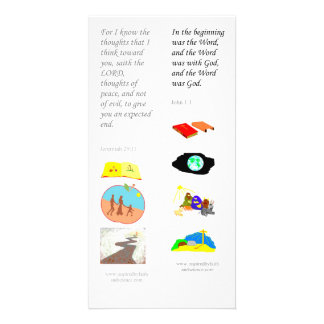 KJV In the Beginning - Bible bookmark card Personalized Photo Card