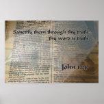 KJV John 17 17 Poster