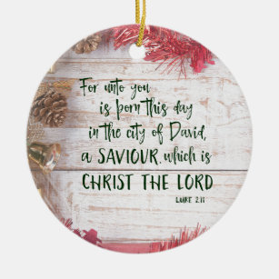 kjv luke bible verse christmas christmas ornament