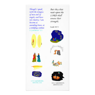 KJV tongues of angels - Bible bookmark card Personalised Photo Card