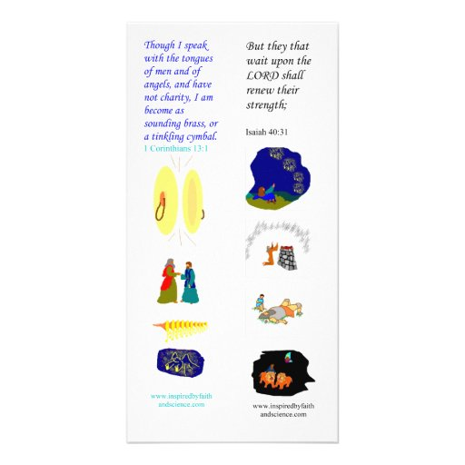 KJV tongues of angels - Bible bookmark card Photo Greeting Card