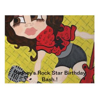 kk 001 jpg Sydney s Rock Star Birthday Post Card