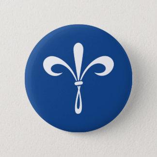 KKG Fleur de Lis: Deep Blue 6 Cm Round Badge
