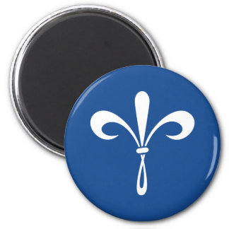 KKG Fleur de Lis: Deep Blue 6 Cm Round Magnet