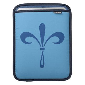 KKG Fleur de Lis: Deep Blue iPad Sleeve