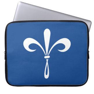 KKG Fleur de Lis: Deep Blue Laptop Sleeve