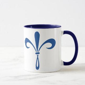 KKG Fleur de Lis: Deep Blue Mug