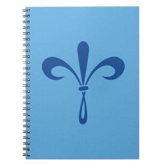 KKG Fleur de Lis: Deep Blue Notebooks