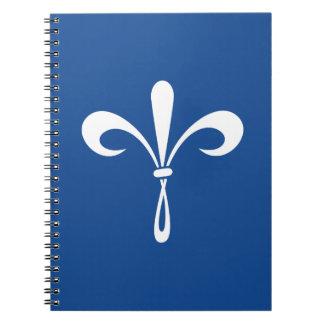 KKG Fleur de Lis: Deep Blue Spiral Notebook