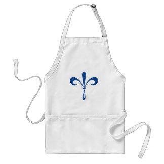 KKG Fleur de Lis: Deep Blue Standard Apron