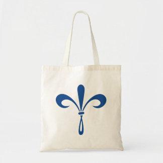 KKG Fleur de Lis: Deep Blue Tote Bag