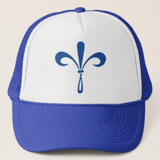 KKG Fleur de Lis: Deep Blue Trucker Hat