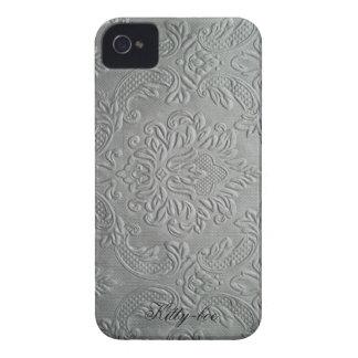 Klassiek bloemen reliëf franse lelie, zilverkleur iPhone 4 covers