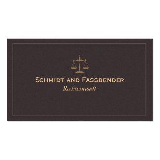 Klassische Rechtsanwalts-Visitenkarte Double-Sided Standard Business Cards (Pack Of 100)