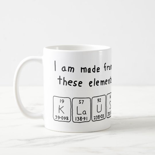 Klaus periodic table name mug