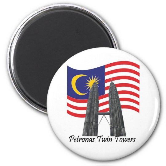 KLCC MALAYSIA 6 CM ROUND MAGNET