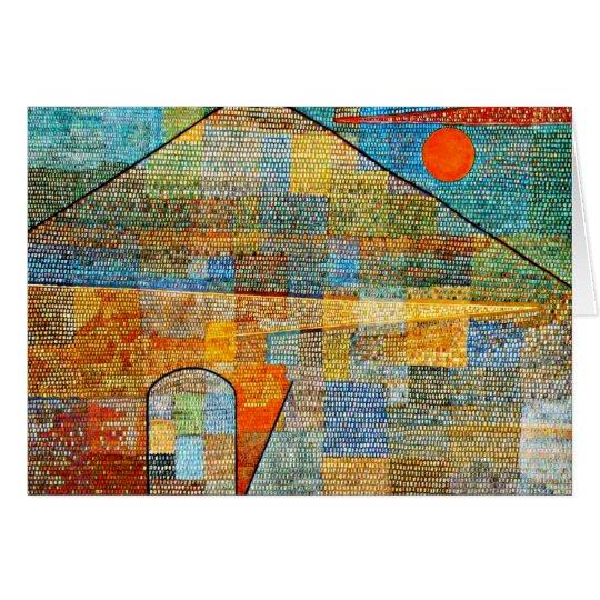 Klee - Ad Parnassus, Paul Klee famous artwork Card