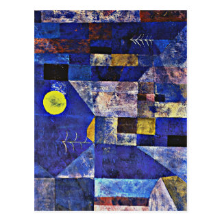 Klee art - Moonlight Postcard