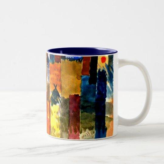 Klee - Before the Town. Paul Klee painting.