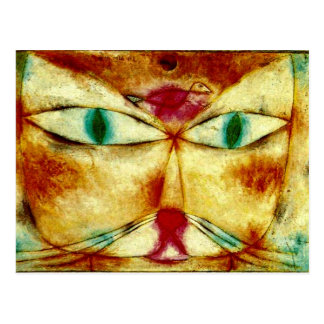Klee - Cat and Bird Postcard