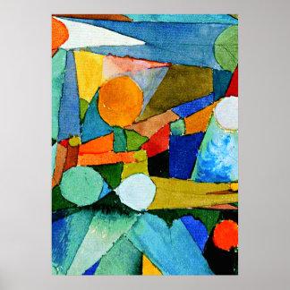 Klee - Colour-Shapes Poster
