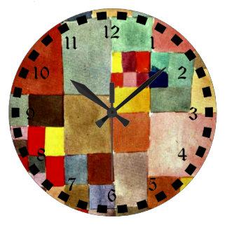 Klee: Flora on Sand Large Clock
