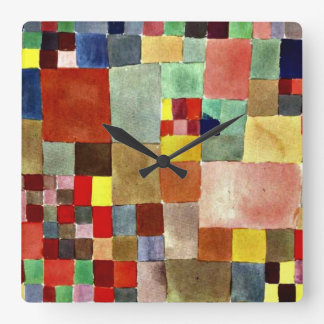 Klee: Flora on Sand Square Wall Clock
