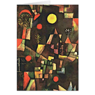 Klee - Full Moon, Paul Klee painting Greeting Card