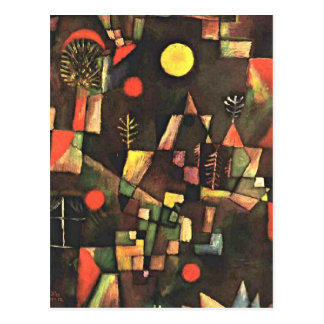 Klee - Full Moon Postcard
