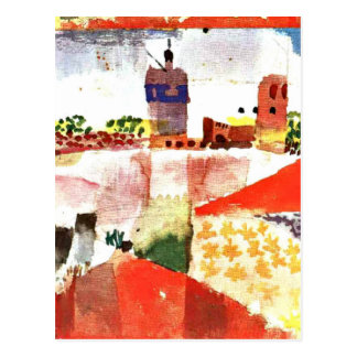 Klee - Hammamet with Mosque Postcard