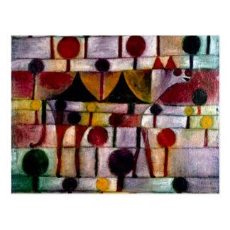 Klee - Kamel in Rhythmischer Baumlandschaft Klein Postcard