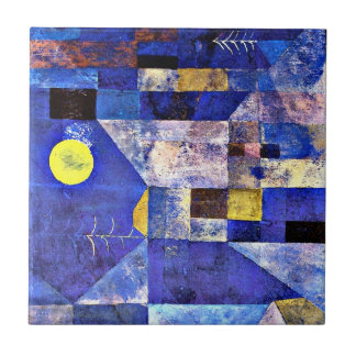 Klee- Moonlight, Paul Klee painting Small Square Tile