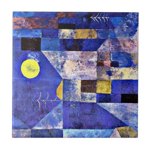 Klee- Moonlight, Paul Klee painting Tile