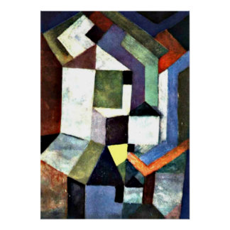 Klee: Pious Northern Landscape Poster