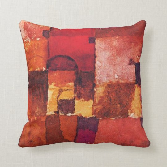 Klee - Red and White Cupolas Cushion