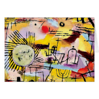 Klee - Rising Sun Greeting Card