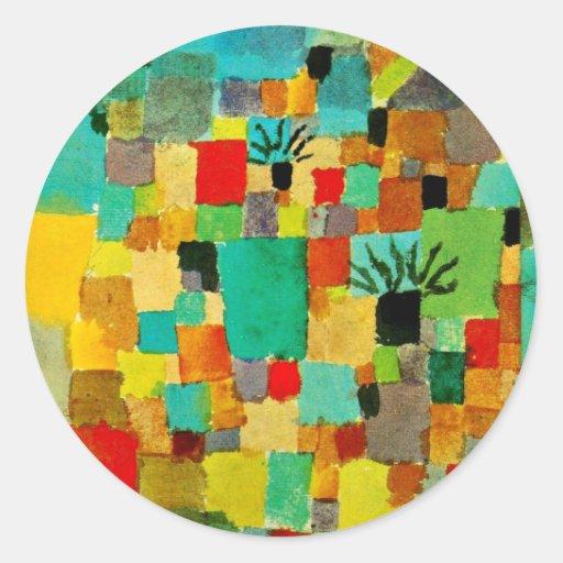 Klee - Southern (Tunisian) Garden Round Stickers
