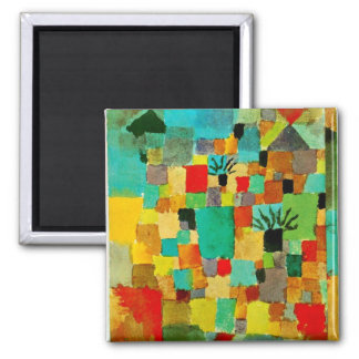 Klee - Southern (Tunisian) Gardens Square Magnet