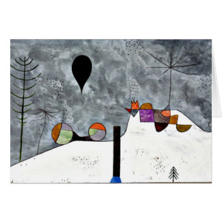 Klee - Winter, Paul Klee painting Card